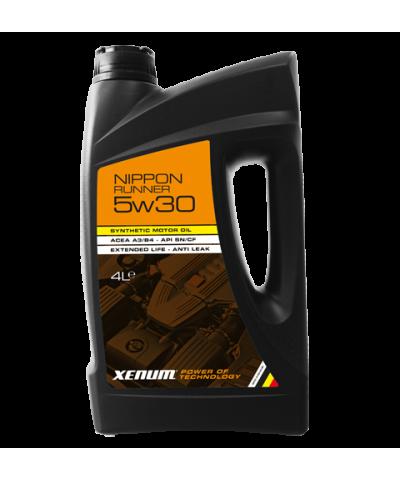Xenum NIPPON RUNNER 5w30 синтетическое моторное масло для авто с большим пробегом, 5л