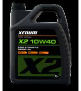 Xenum x2 10w40 полусинтетическое моторное масло для турбированных двигателей, 5л