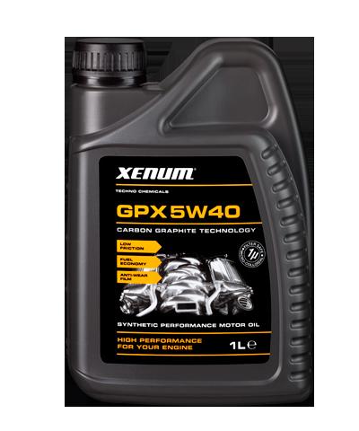 Xenum GPX 5W40 синтетическое моторное масло с микрографитом, 1л