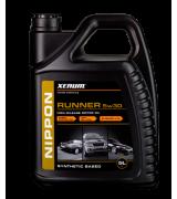 Xenum NIPPON RUNNER 5w30 полусинтетическое моторное масло для авто с большим пробегом, 5л
